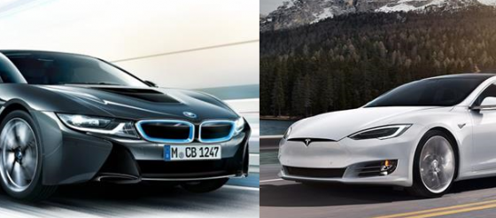 BMW i8 kontra Tesla Model S 75D [Wideo]